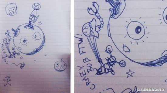 曾参与过育碧《刺客信条》系列工作的编剧Corey May画出了最简陋的小人形象.jpg
