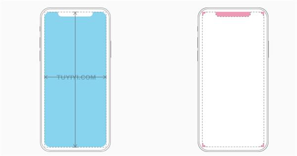 在设计iPhone X的界面时,您必须确保布局填满屏幕,并且不会被设备的圆角,传感器外壳或被主屏幕的指示灯遮蔽。2.png