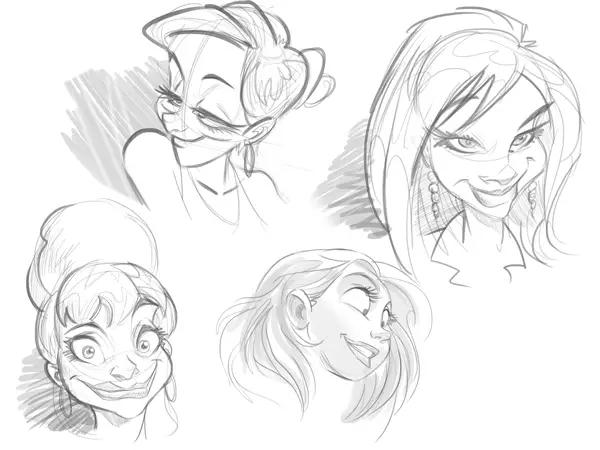 绘画教程:如何画好漫画卡通人物的脸部