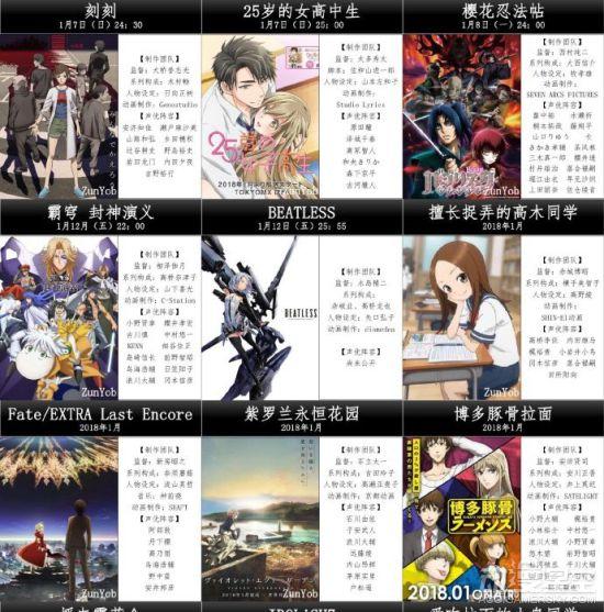 2018年1月动漫新番预览表2.jpg