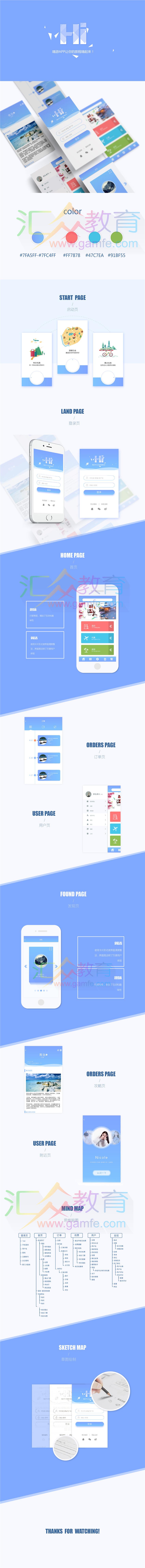 《嗨游App界面设计》
