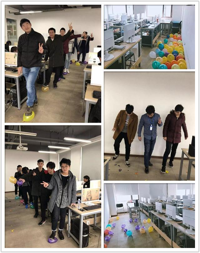 """汇众教育武汉光谷游戏软件校区:大吉大利,开门""""踩"""".jpg"""