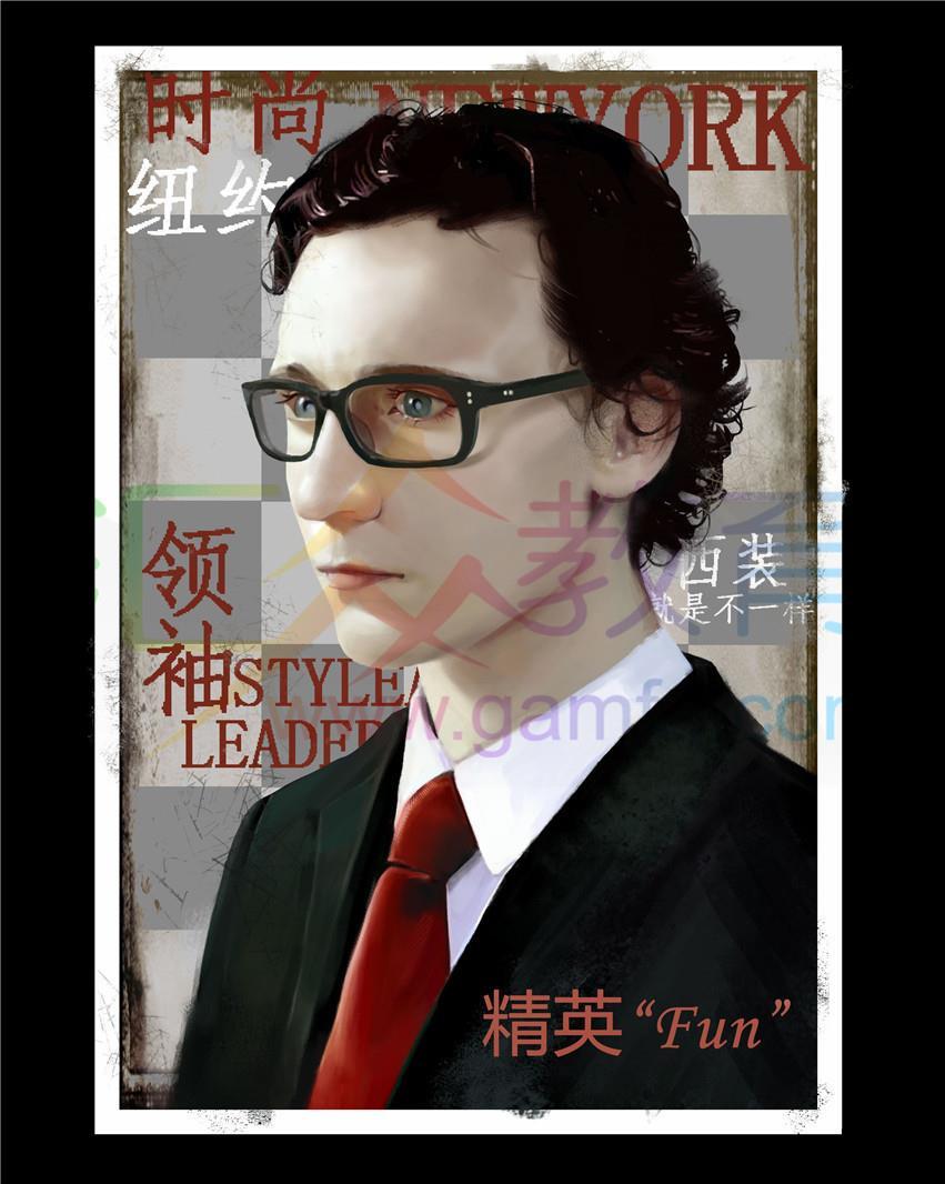 《时尚杂志封面》