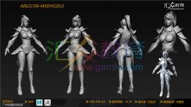 《女性人物模型》