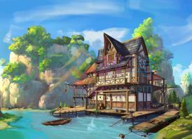 《海边小屋》