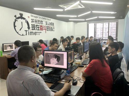 汇众教育西安动漫游戏校区王龙老师在上课.jpg