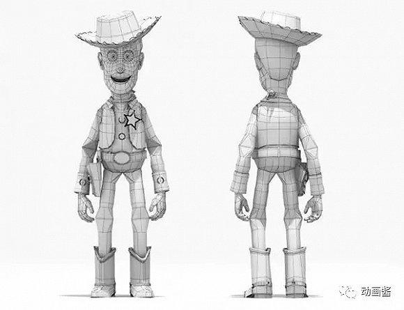 玩具总动员人物角色建模与骨架设定.jpg